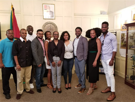 Chevening Scholars and Ms P. McLennan (pictured above, centre), Minister Counsellor, at the Guyana High Commission London on 5th July 2018
