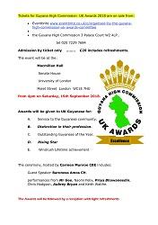 Guyana/UK Awards Flyer 2018
