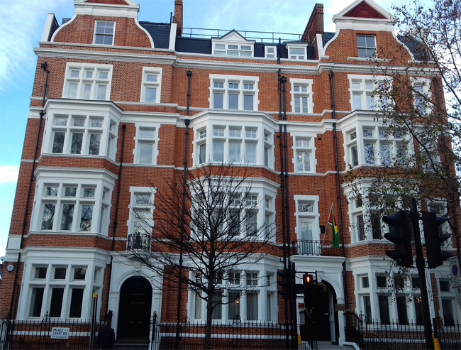 Guyana High Commission, 3 Palace Court, Bayswater Road, London W2 4LP
