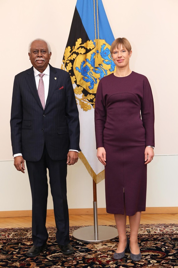 H.E. Frederick H. Case High Commissioner of to the Cooperative Republic of Guyana meets H.E. Kersti Kaljulaid Ambassador to Estonia