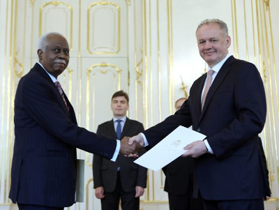 HC's Presentation of Credentials of Guyana to Slovak Republic