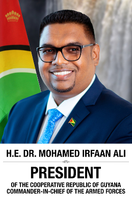 His Excellency Dr. Mohamed Irfaan Ali, President of the Co-operative Republic of Guyana